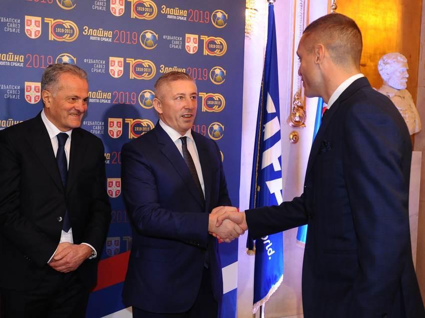 Nemanja Vidić i Slaviša Kokeza.