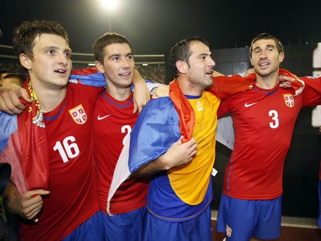 Kuzmanović, Kolarov, Stanković i Dragutinović.