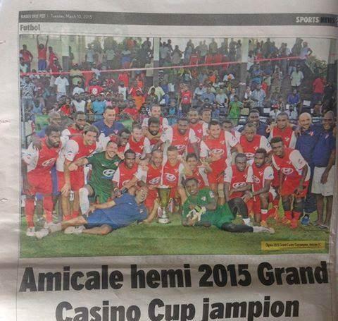 Fotografija iz lokalnih novina posle Grand Kazino kupa.