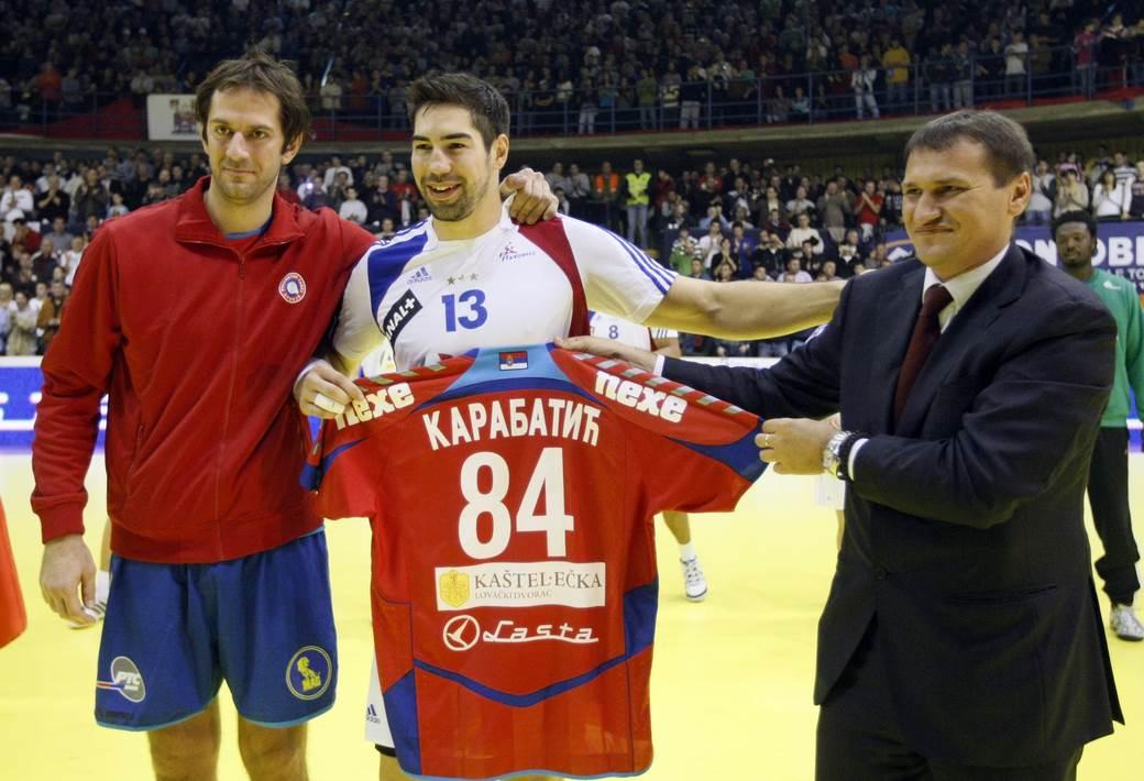 Nikola Karabatić i Mladen Bojinović.