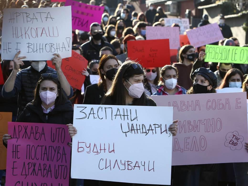 makedonija, protest, žene