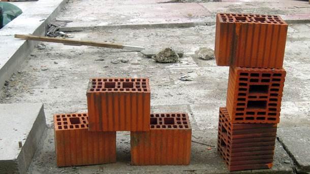 cigle. zidanje, gradilište