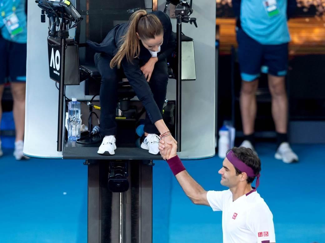 Marijana Veljović i Rodžer Federer.