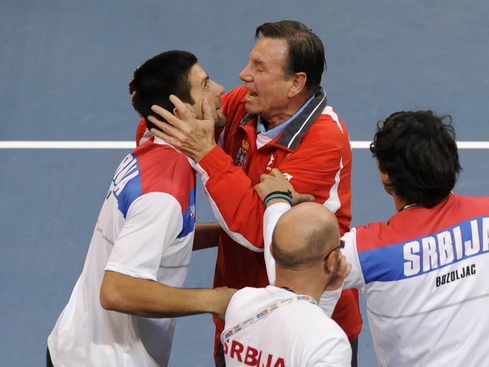 Nikola Pilić i Novak Đoković.