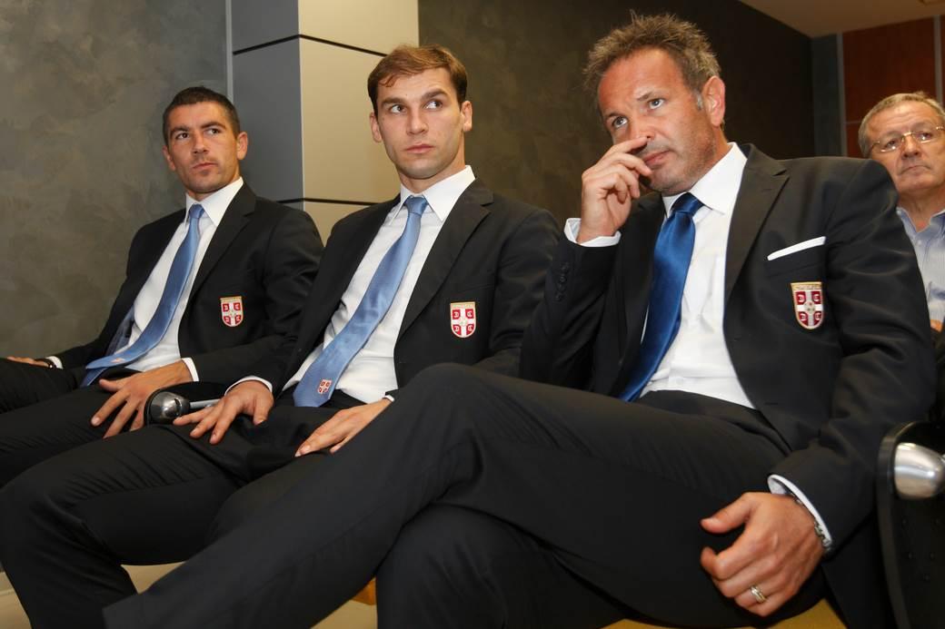 Kolarov, Ivanović i Mihajlović.