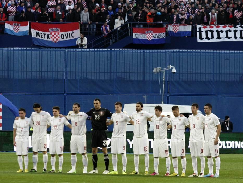 Pred start meča Hrvatska - Srbija.