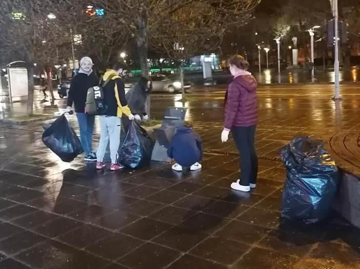 Trg Krajine, smeće, čišćenje, Banjaluka