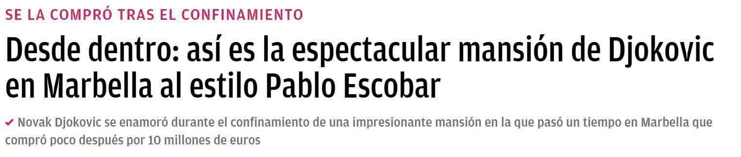 ok diario naslov novak djokovic pablo eskobar