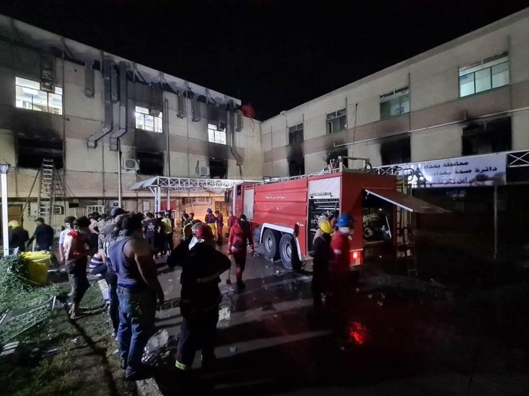 irak, požar, bolnica