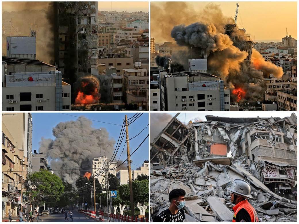 Al-Šuruk-toranj,-bombardovanje,-izrael,-hamas