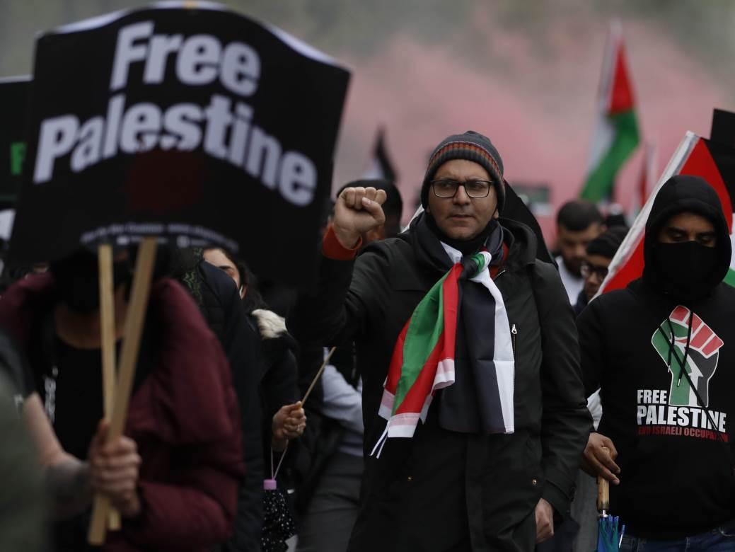 London, protest, Palestina, Izrael