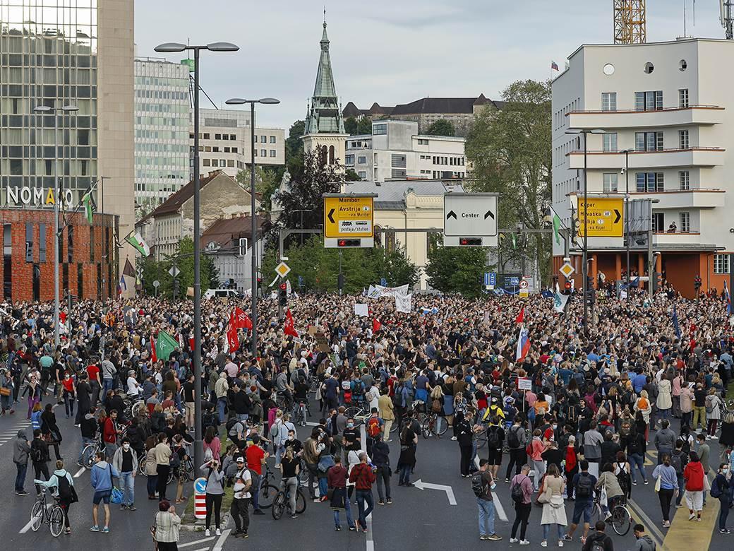 slovenija, ljubljana, protest