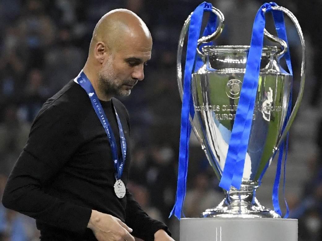 Pep Gvardiola poražen u finalu Lige šampiona.