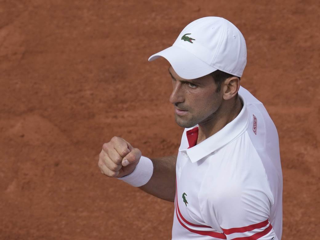 Novak Đoković na Rolan Garosu.