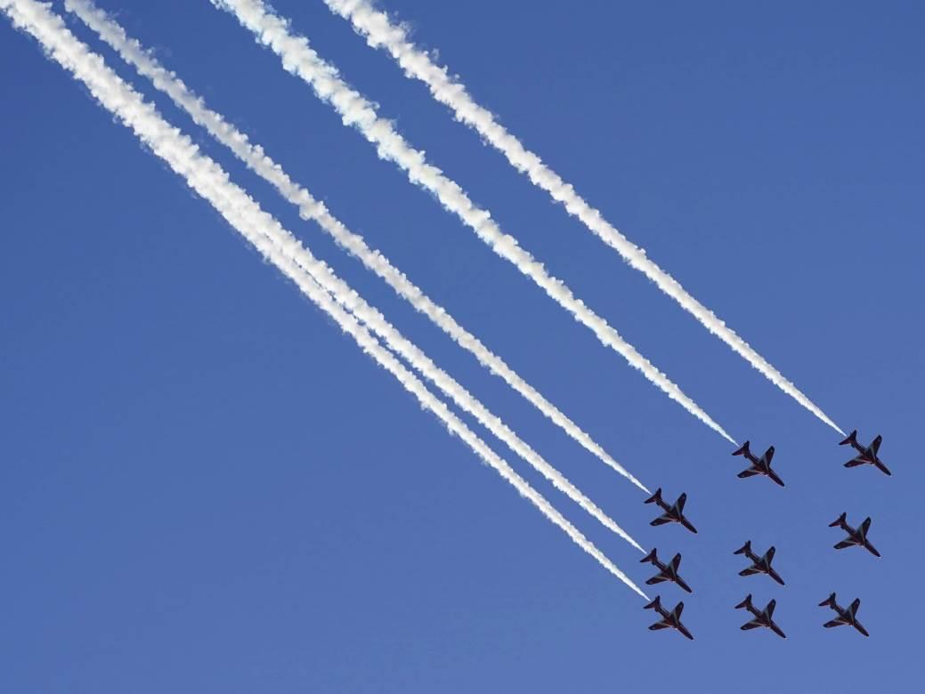 G7, parada, Engleska, avioni