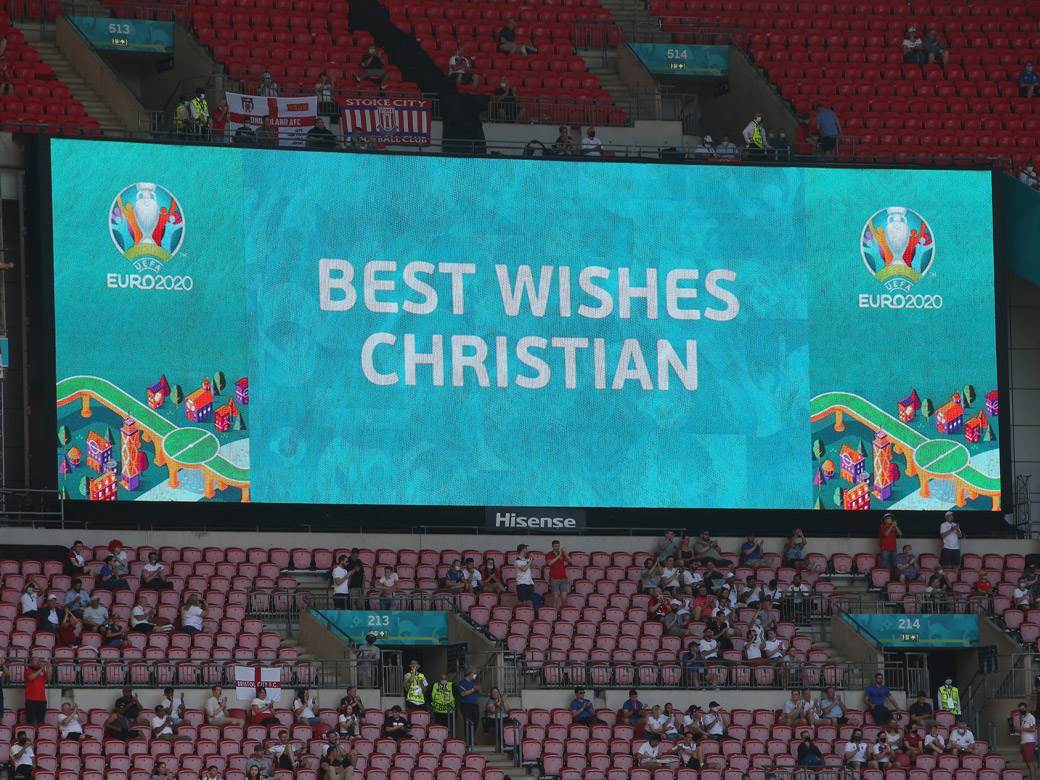 poruka podrške kriastian eriksen uefa euro 2020