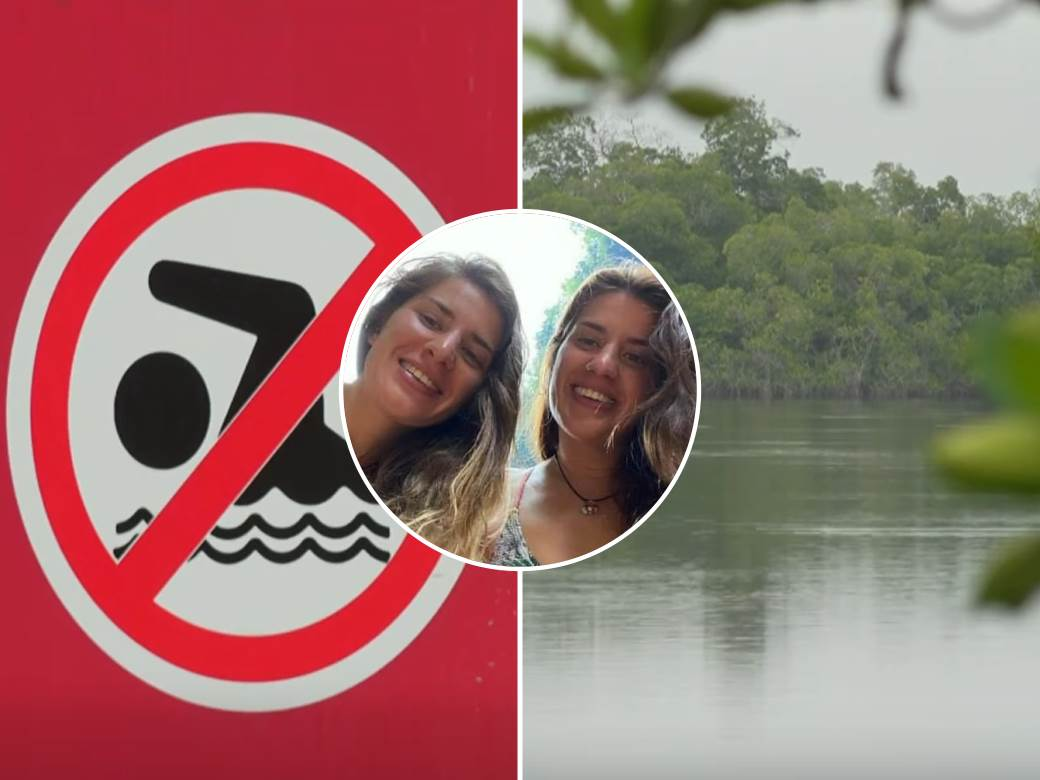 plivanje aligator napad sestre