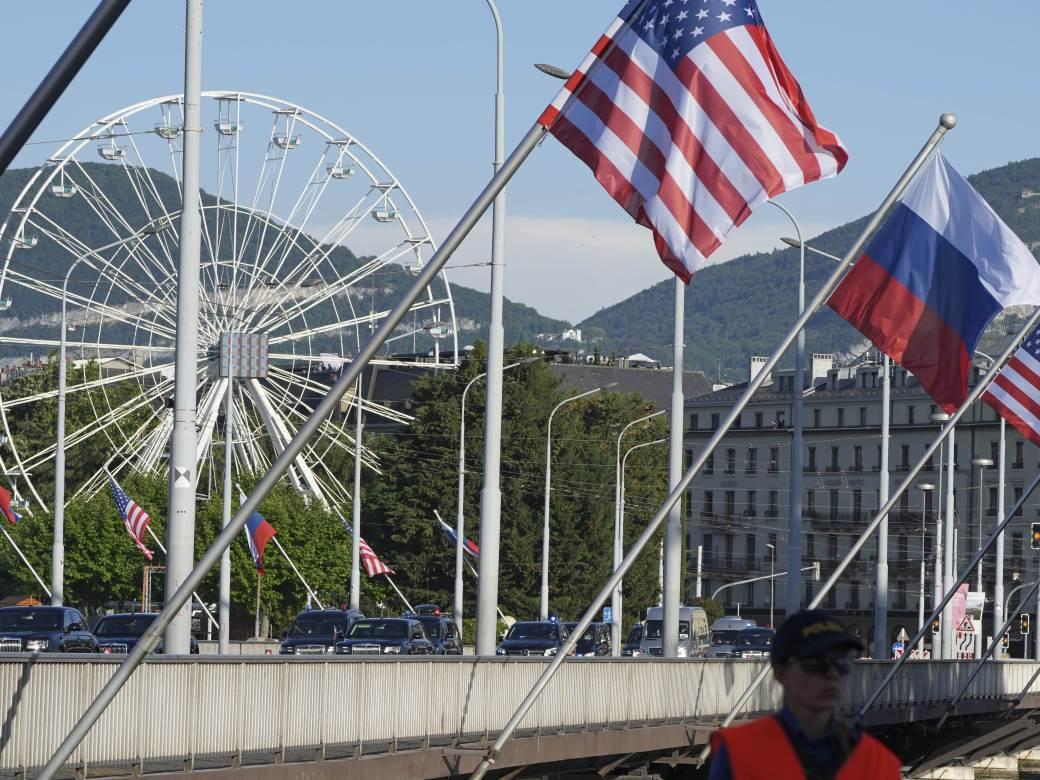 Ženeva, Rusija, SAD, zastava, Amerika