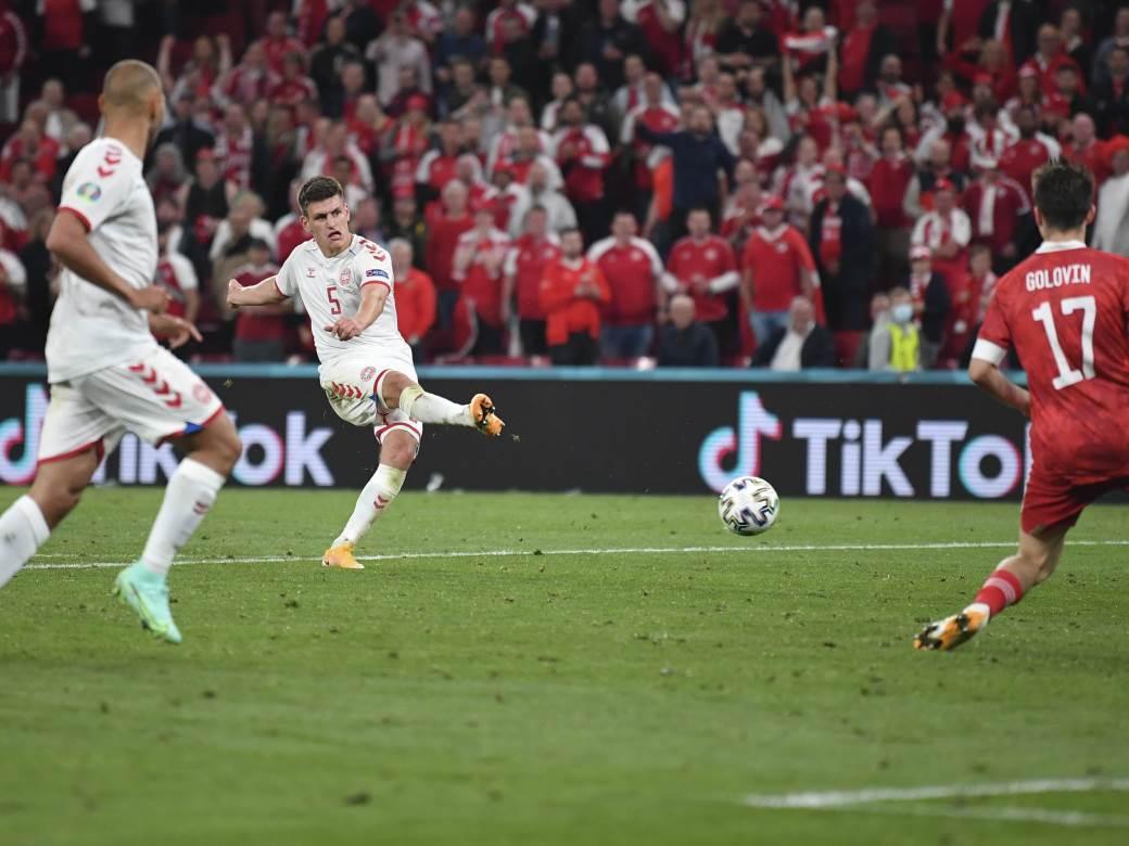 Joakim Mele je bio strelac za Dansku protiv Rusije.