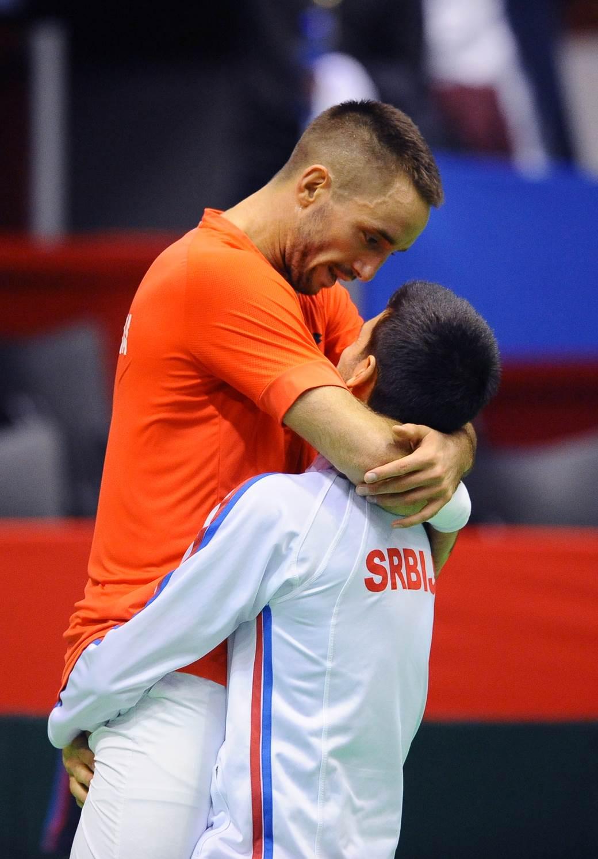 Novak Đoković i Viktor Troicki.