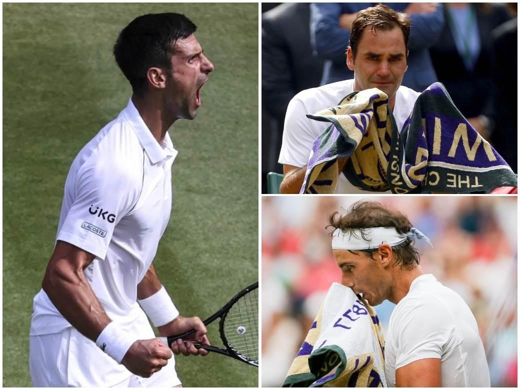 Novak Đoković Rodžer Federer Rafael Nadal