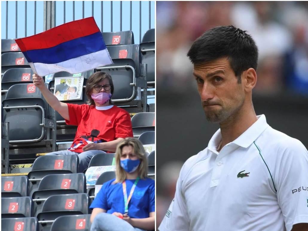 Novak Đoković zastava Srbije