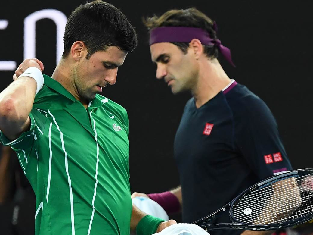 Novak Đoković i Rodžer Federer.