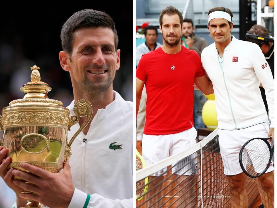 Novak Đoković, Rodžer Federer, Rišar Gaske