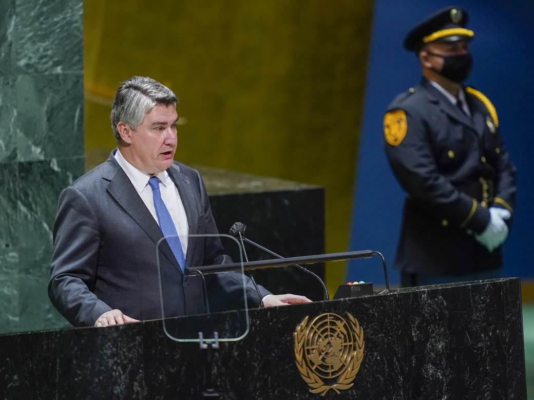 Zoran Milanović u UN