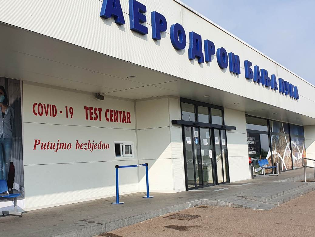 Šalter za testiranje na Aerodromu Banjaluka