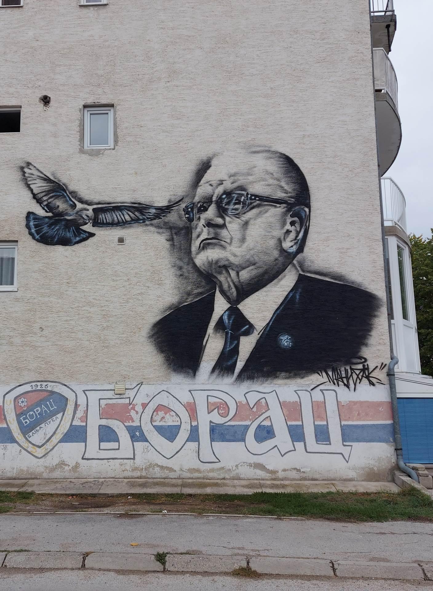 dušan ivković, mural, banja luka