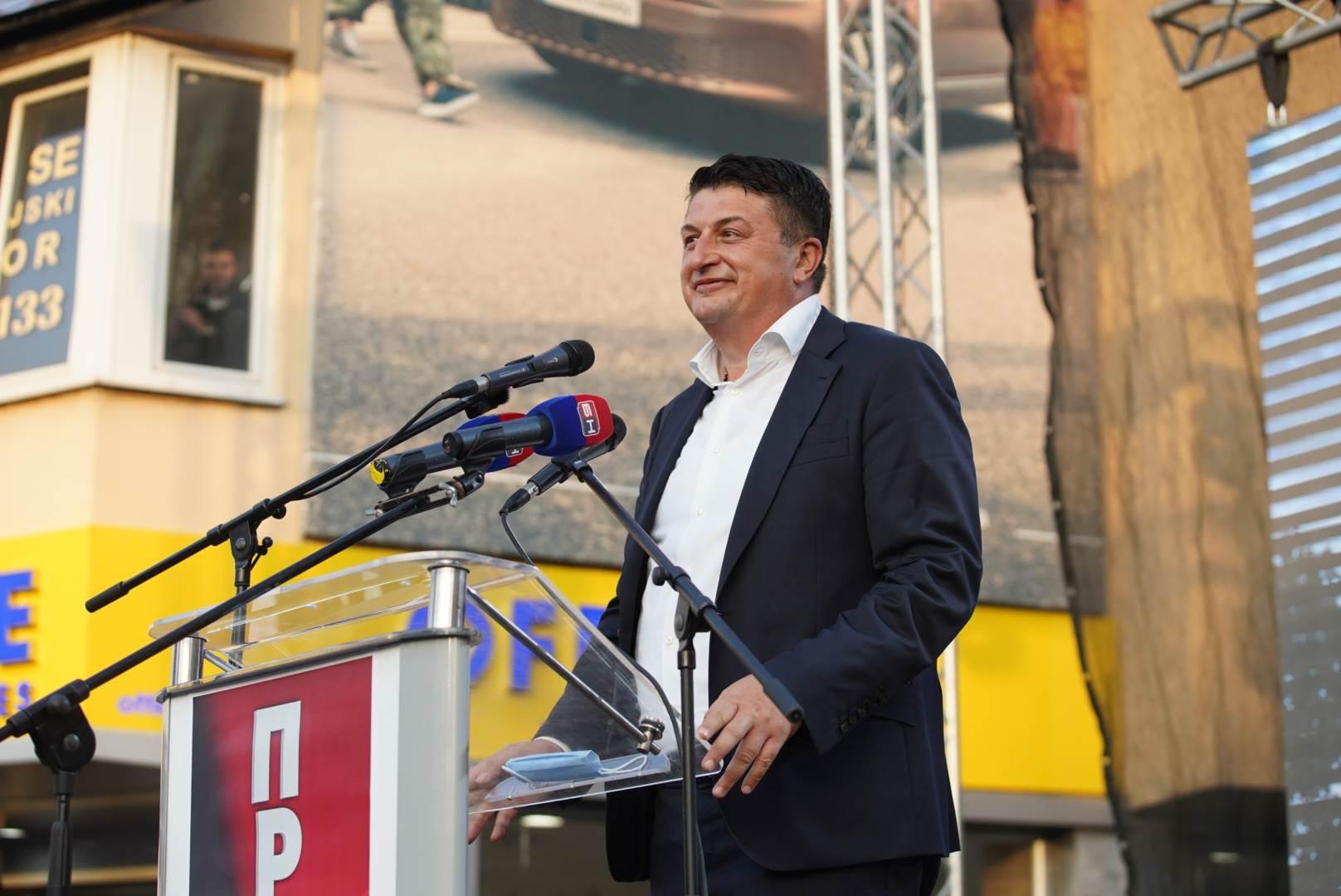 Milan Radović, protest