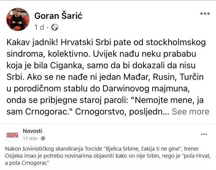 Goran Šarić napao Nenada Bjelicu