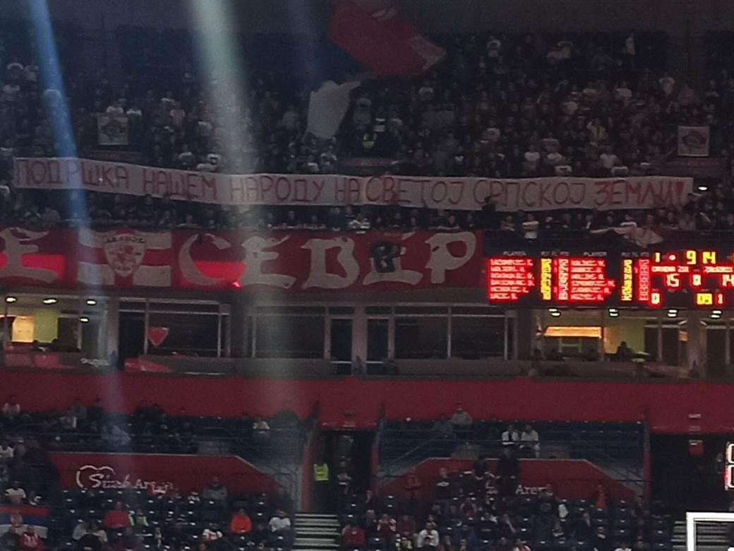 Podrška za Kosovo navijača Zvezde