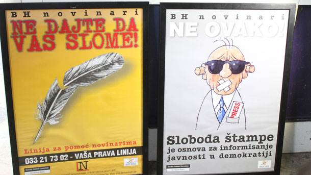 protest, novinari
