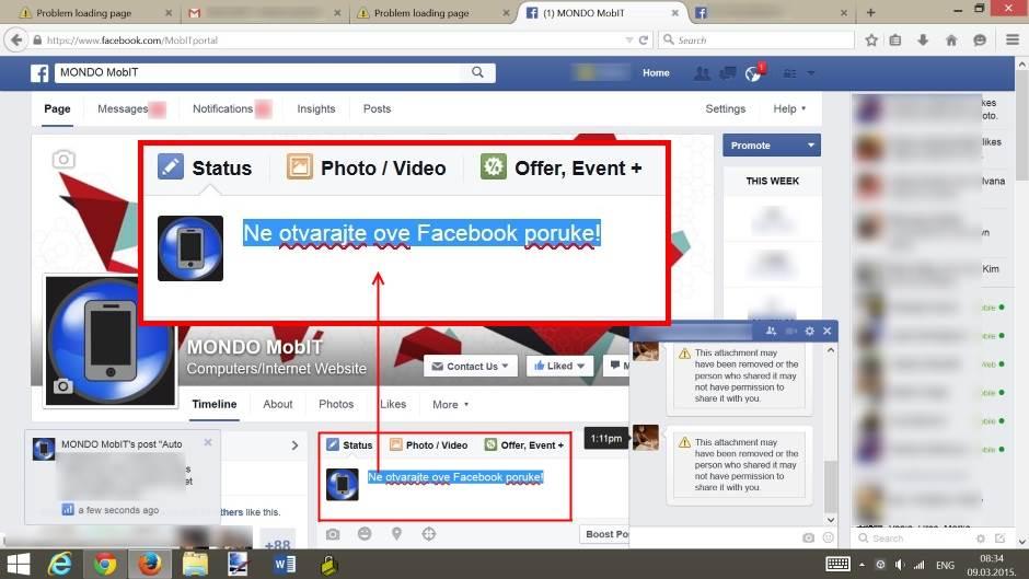 Facebook Virus, Facebook, Virus