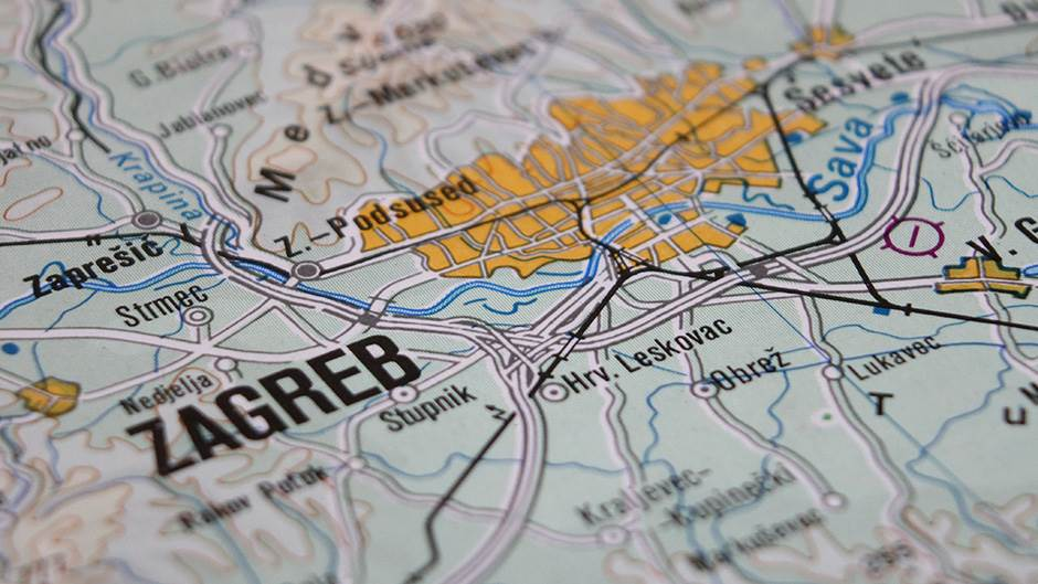 Mapa Zagreba, Zagreb