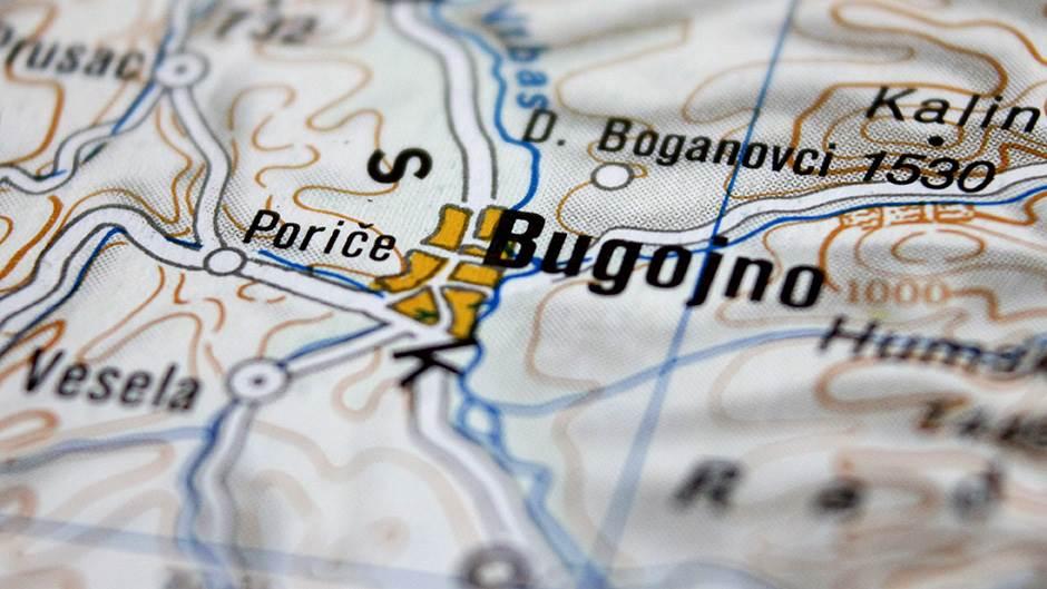 Mapa Bugojna, Bugojno