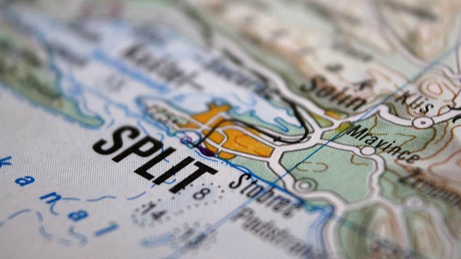 Mapa Splita, Split