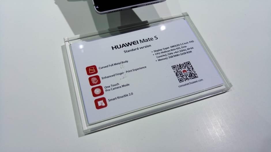 Mate S, Huawei, Huawei Mate S, Mate S IFA 2015,