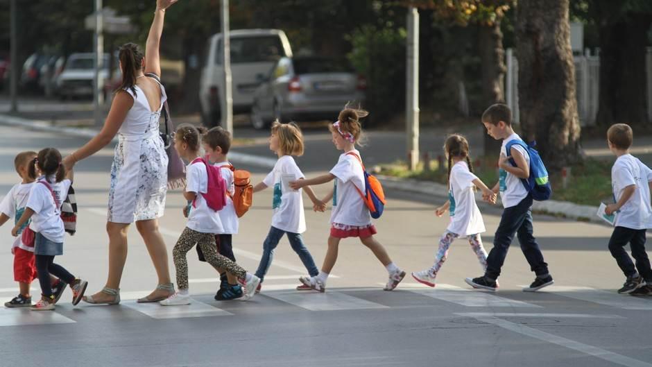 djeca, pješački prelaz