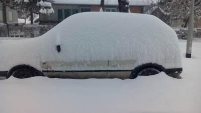 Banjaluka, Budžak, Lazarevo, snijeg