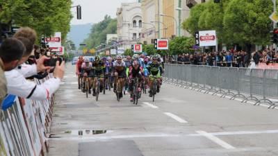 "Biciklistička trka ""Beograd-Banjaluka"", finiš druge trke"