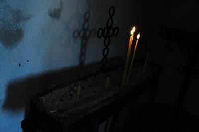 vlasina, selo, crkva palja, sveće, sveća