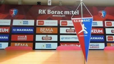 RK Borac m:tel rukomet pokrivalica logo