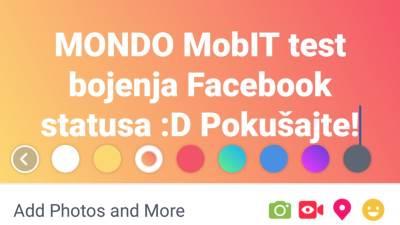 Facebook, Facebook status, Boja Facebook statusa, Kako obojiti Facebook status