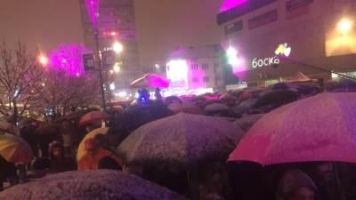 kišobrani, snijeg, nova godina, banjaluka