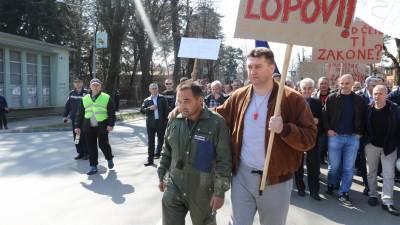 Protest, ŽRS, Banjaluka, Željeznice