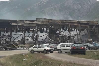 Bingo, požar, Mostar