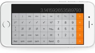 Apple, iPhone, calculator